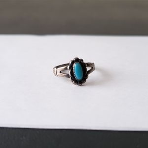 Vintage Bell Trading Post Turquoise Ring Sz 6.5